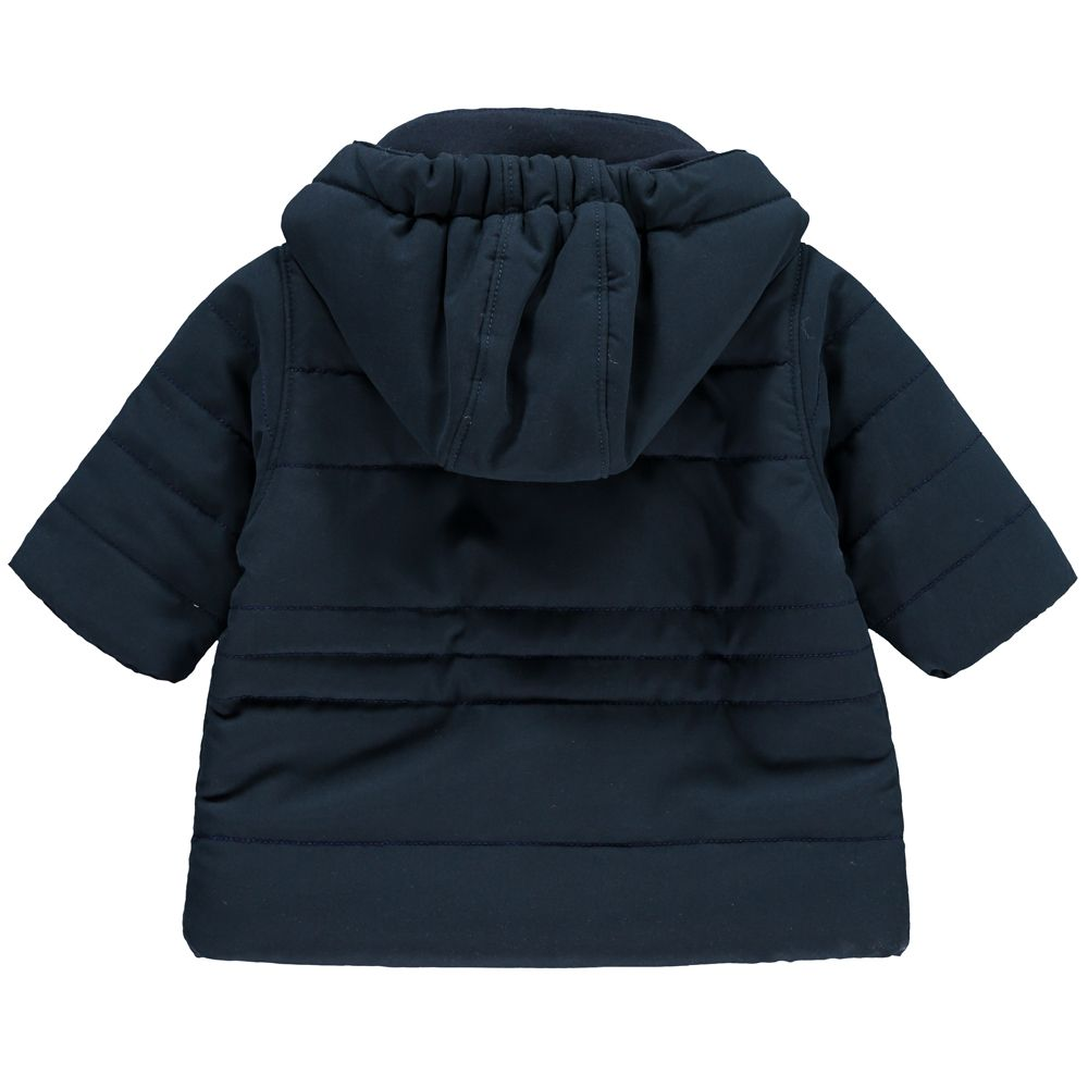 7b1d140e6 Emile et Rose  Neil  Navy Microfibre Jacket With Hood And Mitts ...