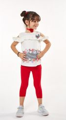 Ebita Summer T-shirt And Legging Set Red