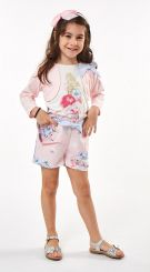 Ebita Summer Three Piece Short Set Pink