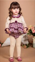 Bea Cadillac 'Amatista' Winter Spanish Purple Dress With Bonnet & Pantees 7800
