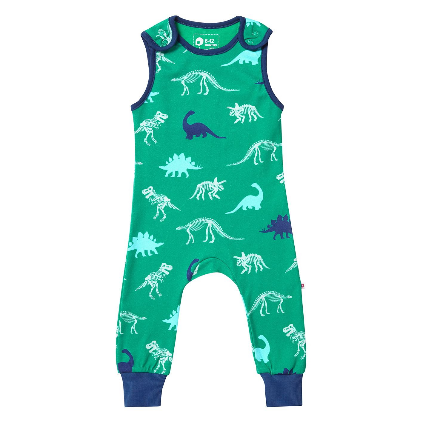 8329bddd9 Piccalilly Dinosaur Dungarees | Audrey Mansell