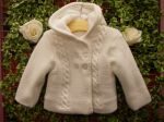 Pex Knitted Hooded Jacket White