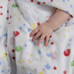 Piccalilly Dinosaur Feet Muslin Swaddle