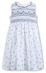 Sarah Louise Summer White & Navy Older Girls Summer 011163