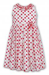 Sarah Louise Dress Spotty Sleeveless 9335