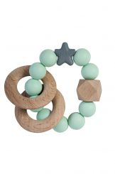 Nibbling Natural Wood Rattle Stella Mint