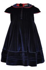 Little Lord & Lady Alexandra Navy Velvet Dress