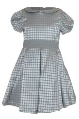 Little Lord & Lady Elizabeth Silver Jacquard Dress