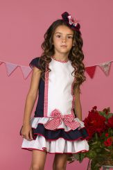 Petit Bebe 'Lobelia' Summer Navy Spanish Dress 18112