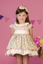 Petit Bebe 'Fresia' Lemon Summer Spanish Dress 18132