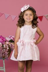 Petit Bebe 'Flor De Cera' Pink Summer Spanish Dress 18123