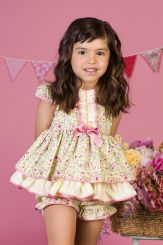Petit Bebe 'Fresia'  Lemon Summer Baby Spanish Dress & Panties 18130