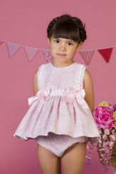 Petit Bebe 'Flor De Cera' Pink Summer Spanish Baby Dress & Panties 18120