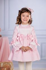 Petit Bebe 'Meiko' Spanish Winter Girls Dress 18612