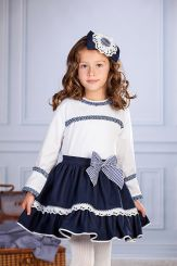 Petit Bebe 'Sakura' Spanish Winter Girls Blouse & Skirt 18653