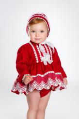 Bea Cadillac Baby 'Lucas' Spanish Dress Pantee And Bonnet 16651