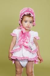 6ee3cede1145 Bea Cadillac 'Leiden' Baby Spanish Dress With Panties & Bonnet 184 ...