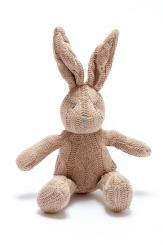 Best Years Knitted Organic Brown Cable Bunny