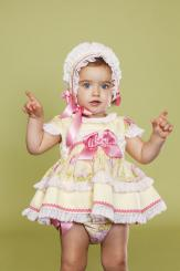 Bea Cadillac Baby 'Orion' Dress With Panties and Bonnet 17310
