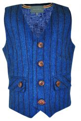 Little Lord & Lady Digby Teal Tweed Waistcoat