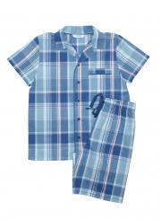 mini jammies Harry Woven Short Sleeved Checked Pyjamas