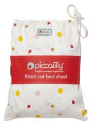 Piccalilly Ladybird Cot Sheet In A Bag