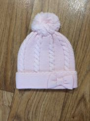 Sarah Louise Pink Knitted Bow Hat 008060HP