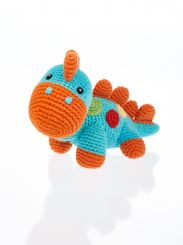 Best Years Pebble Cotton Crochet Turquoise Steggi Rattle