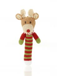 Best Years Pebble Cotton Crochet Rudolf Stick Rattle