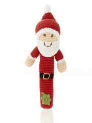 Best Years Pebble Cotton Crochet Santa Stick Rattle