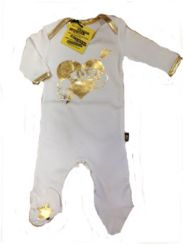 Rock A Bye Originals Loveheart Sleepsuit Bling