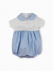 Sardon Spanish Boys Bubble Knit and Pale Blue Check 20RF-615