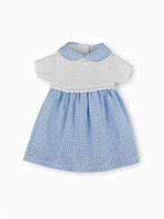 Sardon Spanish Knit and Pale Blue Check Dress 20RF-616