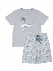 mini jammies Freddie Short Sleeved & Dinosaur Print Short Pyjama