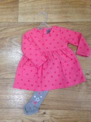 Losan Coral Pink Star Dress And Tights