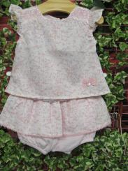 Patachou Girls Summer Top & Bloomers Set Pink