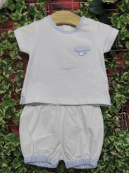 Patachou Boys T-shirt And Bloomer Short Set