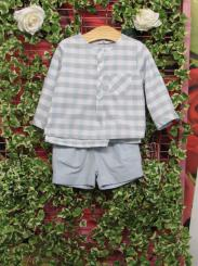 Patachou Boys Checked Shirt And Short Set