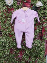Dandelion Tiny Bear Cotton Sleepsuit Pink