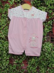 Dandelion Little Elephant Cotton Romper Pink