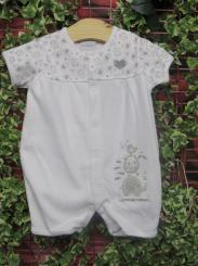 Dandelion Little Elephant Cotton Romper White