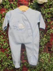 Dandelion Tiny Bear Cotton Sleepsuit Blue