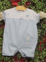 Dandelion Little Elephant Cotton Romper Blue
