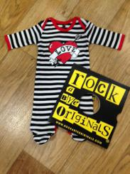 Rock A Bye Originals Loveheart Sleepsuit