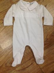 Patachou Cream Velour Babygrow