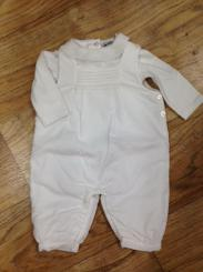 Patachou Cream Dungaree Set