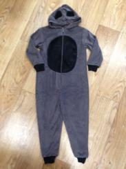 Boys Grey Animal Onesie