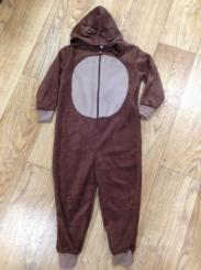 Boys Onesie Brown With Reindeer Antlers