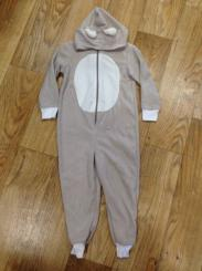 Boys Beige Animal Onesie