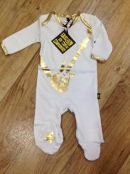 Rock A Bye Originals Guitar Sleepsuit Bling White